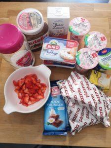 Zutaten für den Nutella-Cheesecake