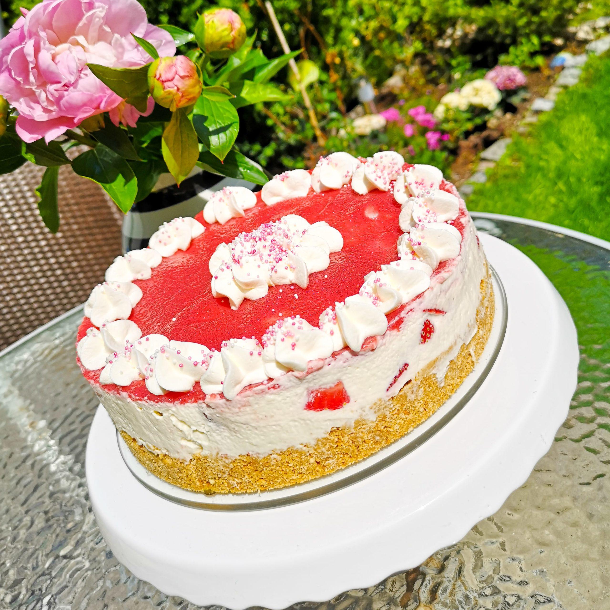 Schnellster No-Bake Erdbeer-Cheesecake
